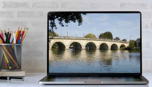 Maidenhead Bridge on a computer Screen