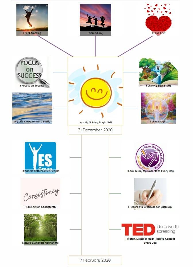 Julie Etheridge My Shining Self Goal Map