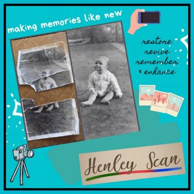 Henley Scan Restored damage vintage photo