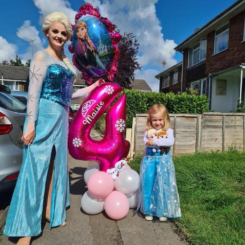 Wish Upon a Princess Queen Elsa birthday visit