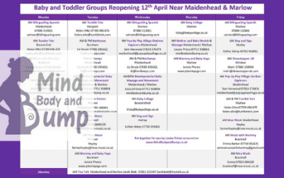 Baby & Toddler Groups around Maidenhead & Marlow