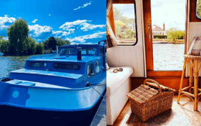 The Blue Barge – Magpies and Butterflies